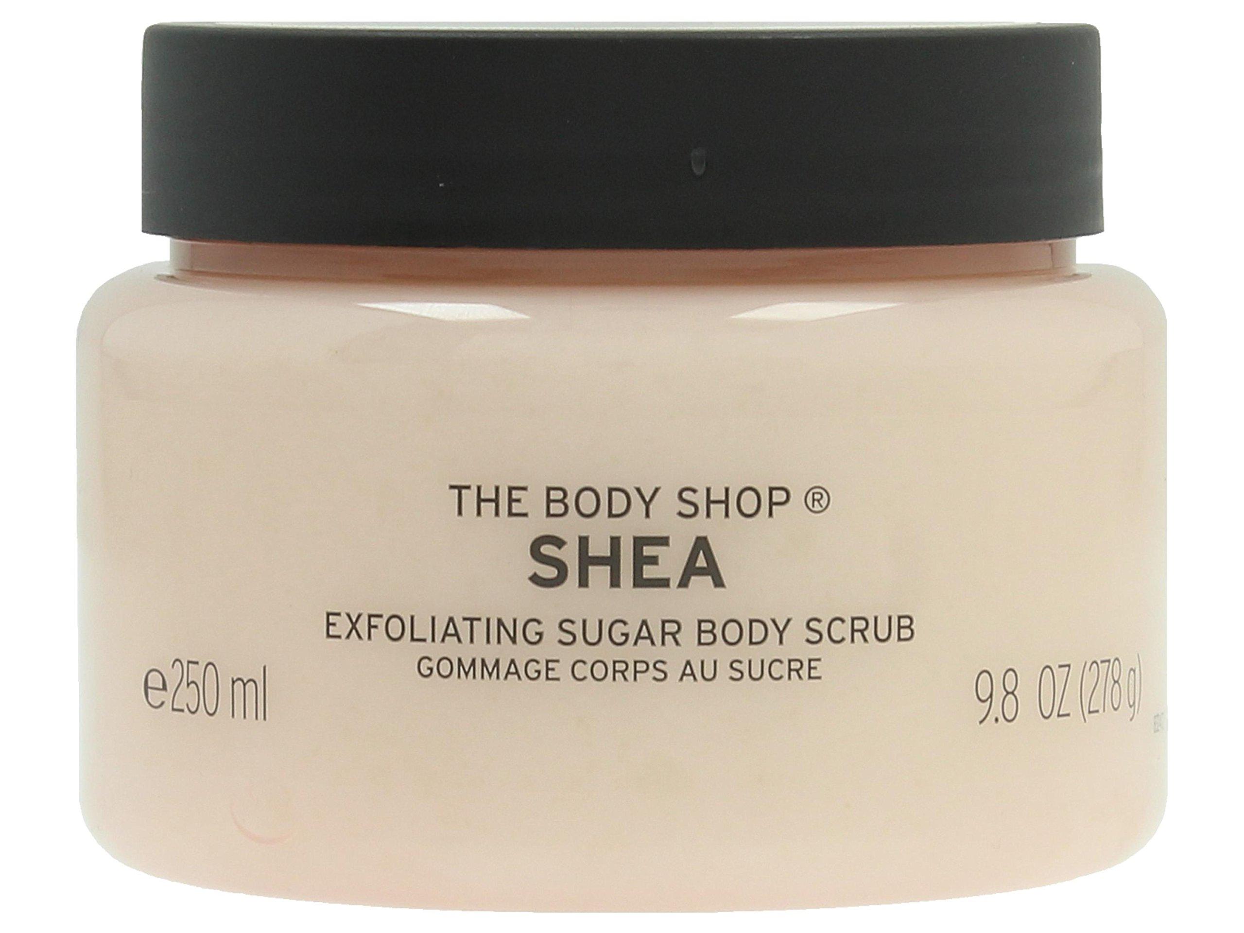 body shop shea butter scrub review