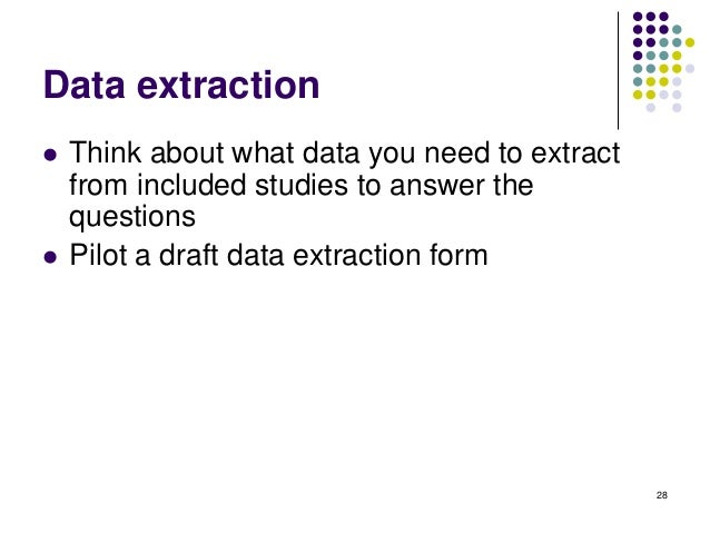 data extraction form systematic review observational studies