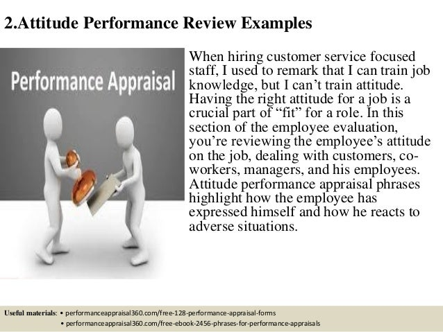excellent customer service performance review phrases