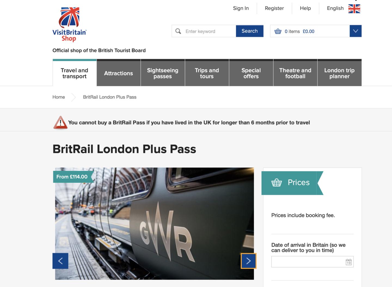 britrail london plus pass review